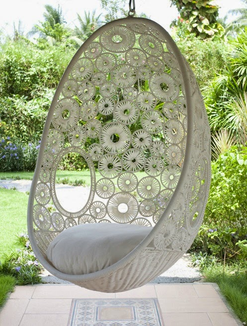 Home garden 35 fauteuils suspendus en rotin - Fauteuil suspendu exterieur ...