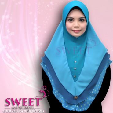 Tudung tiga layer sweet muslimah