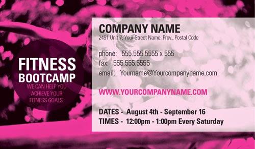 eprintfast fitness business card