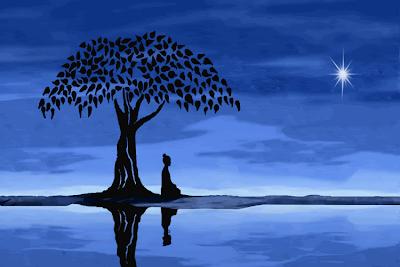 Las dos ramas de la meditacion budista. Buddha_Meditation_Tree