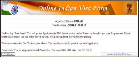 indian tourist visa application form toronto