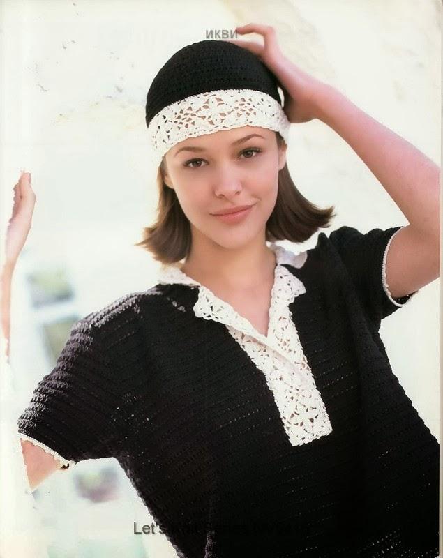 шапочки-шарфы крючком.схемы