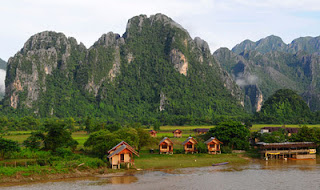 the Mekong River to the Pak Ou caves, home to millions of small Buddha statues