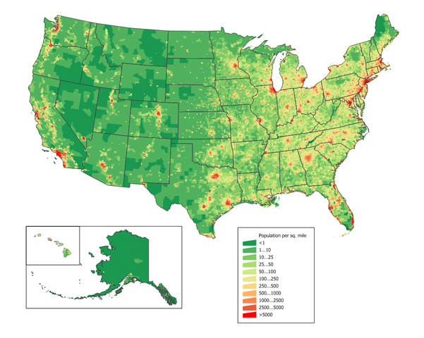 Amtrak Map Us - Us map scaled to population