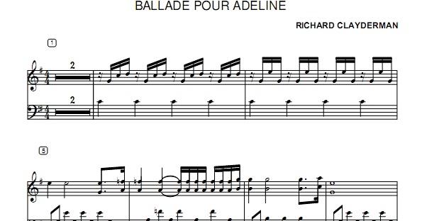 ballade pour adeline piano sheet pdf