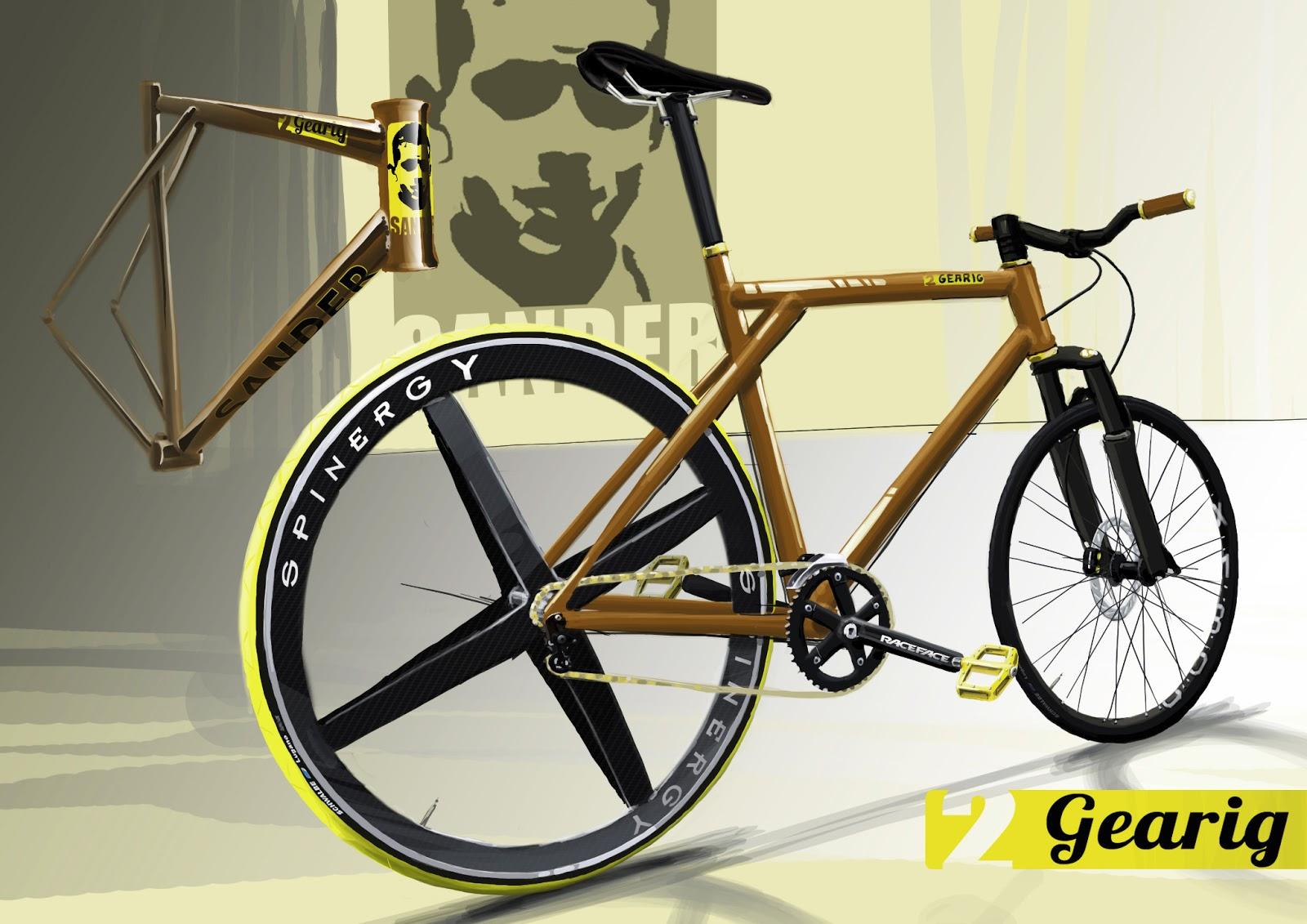 Sander Design Speedbike 2 Gearig Sketch Entwurf Skizze