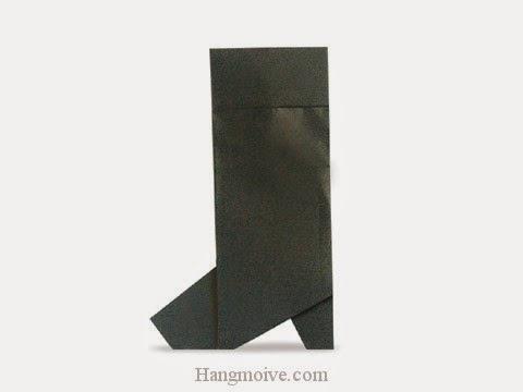 Cách gấp, xếp đôi boots bằng giấy origami - Video hướng dẫn xếp hình đồ thời trang - How to fold a bốt