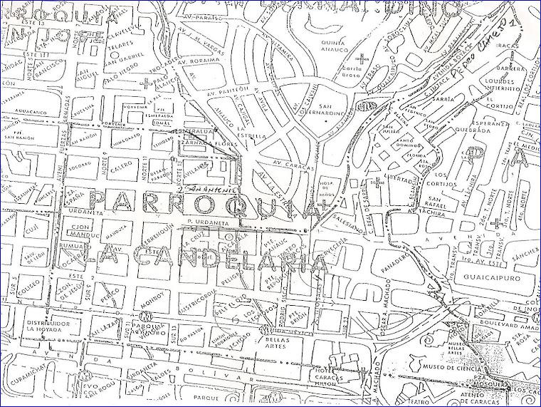 Mapa de la Parroquia Candelaria