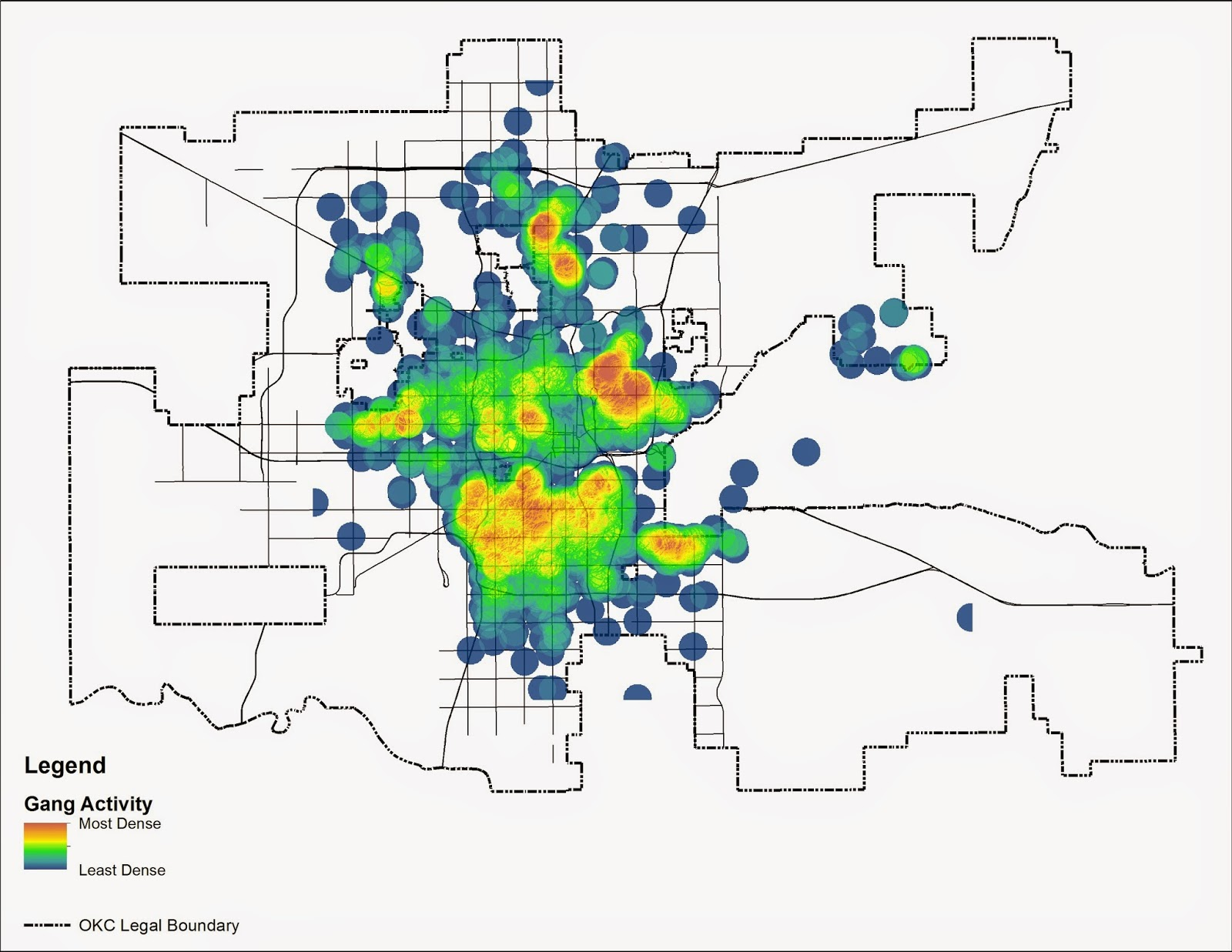 Carless in okc where do the children play gang violence in okc heat map showing where gang violence occurs gumiabroncs Image collections