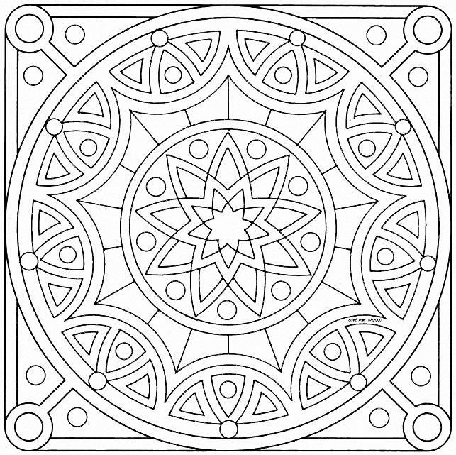 square mandalas coloring pages printable