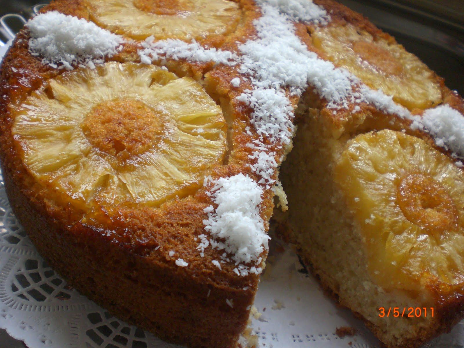 Ananaslı Alt Üst Keki Tarifi