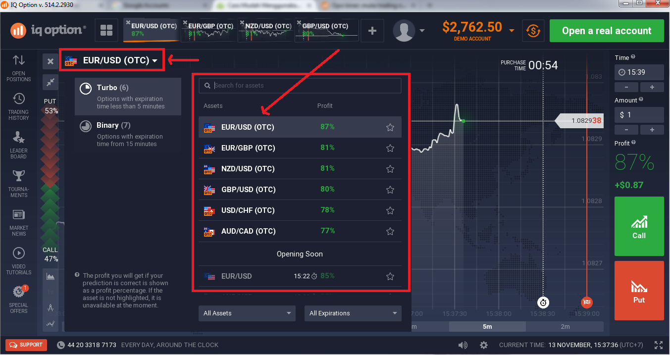 cara trading di iq option