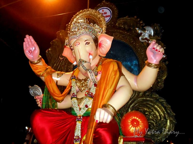 Divine Ganesha taken for Ganesh immersion in Mumbai