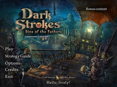 Dark Strokes: Sins of the Fathers Collector's Edition Main Menu