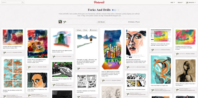 Galeria de imagens do Forks and Drills no Pinterest.