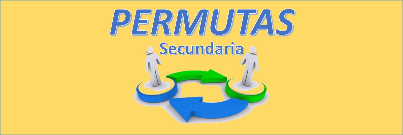 PERMUTAS 2016 - SECUNDARIA