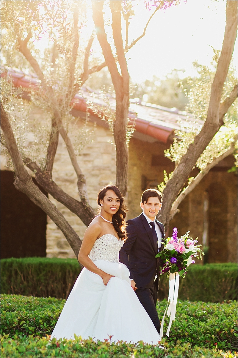 Orange County Elegant Bride and Groom Portraits