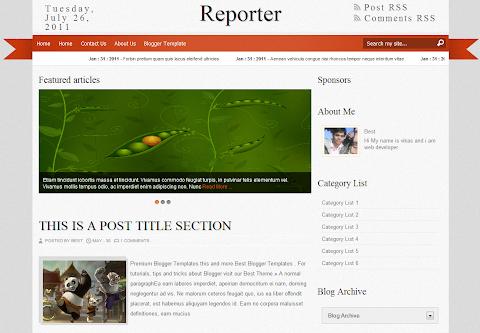 Reporter Blogger Theme