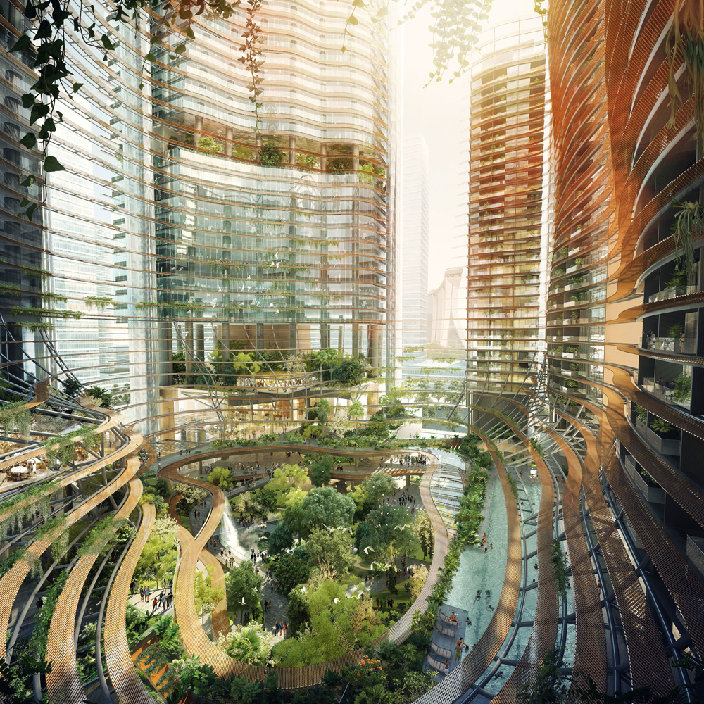 green heart living at Marina Bay Singapore