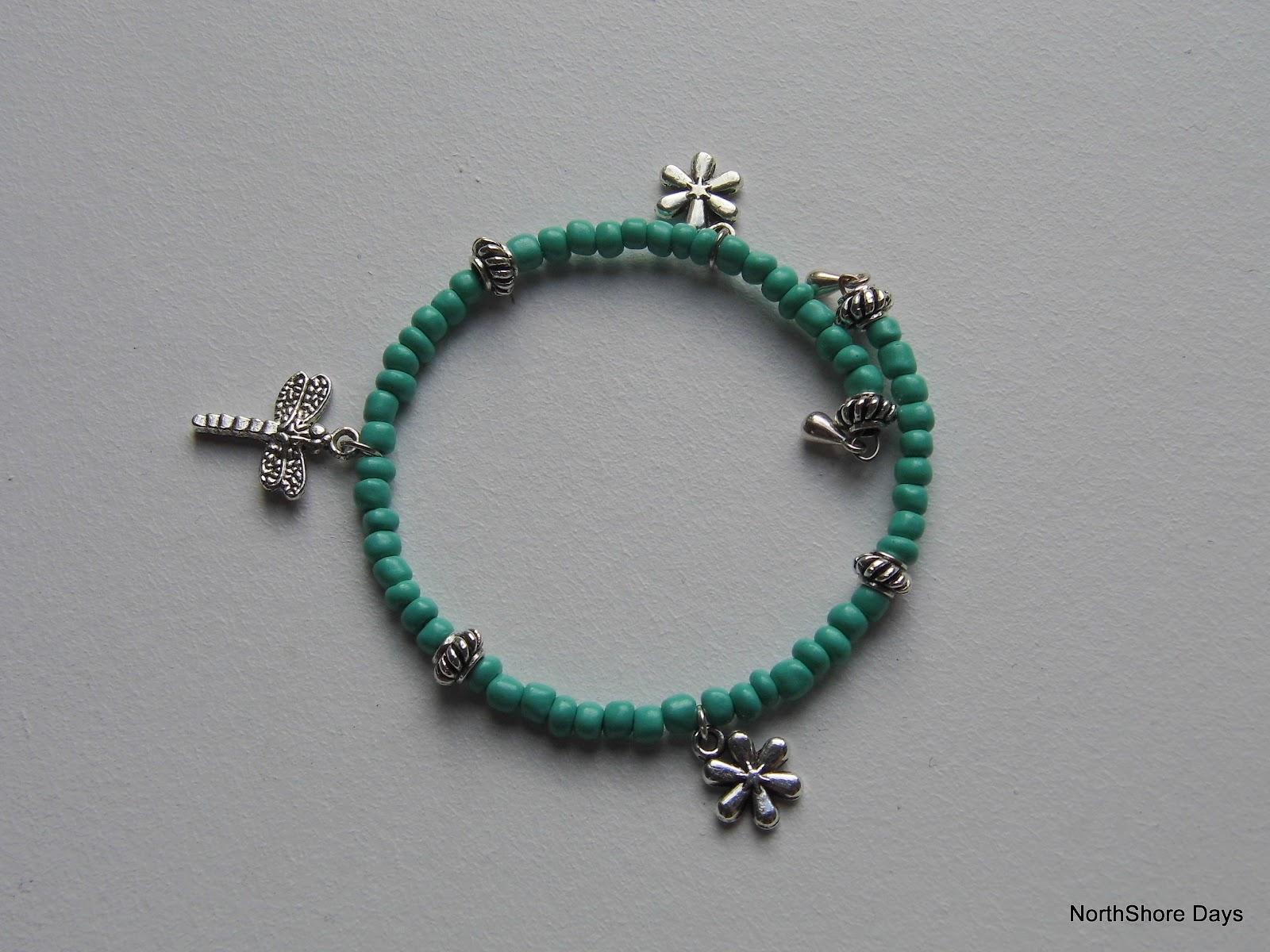 northshore days memory wire charm bracelets