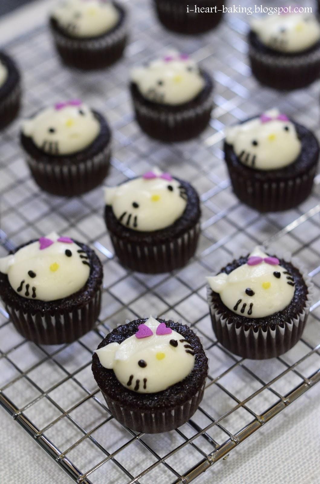I Heart Baking Hello Kitty Mini Cupcakes With Purple Bows