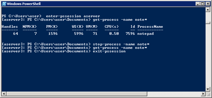 how to run powershell to diagnose rnning process