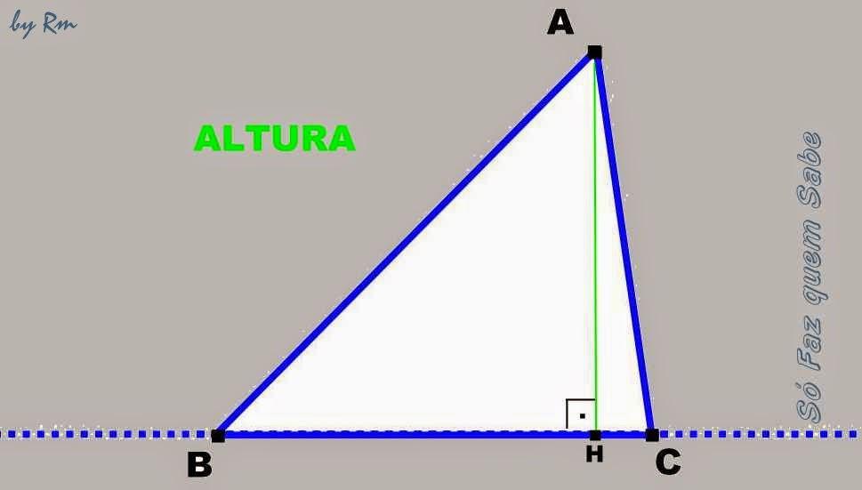 Uma das alturas de um triângulo