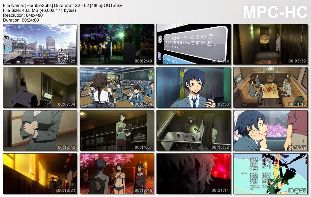 Kos Internet - Durarara!!x2 Episode 2 Sub English SD 480p