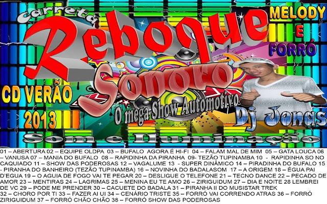 CD REBOQUE SONORO / MELODY & FORRO  DJ.JONAS
