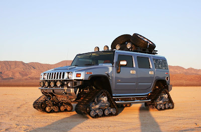Silver Hummer tires Modification - Hummer Cars Modification wallpaper