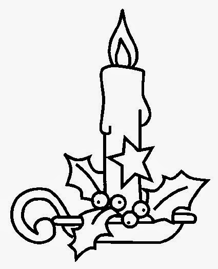 tarefas blog velas de natal para pintar velas do natal velas natalinas