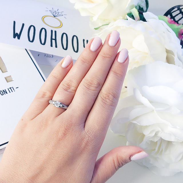 Beauty, the engagement polish, engaged, Wedding Planning, Wedding, Engagement, Essie, Essie Minimalistic, Nail Polish, Nails, Proposal, Dizzybrunette3 Proposal