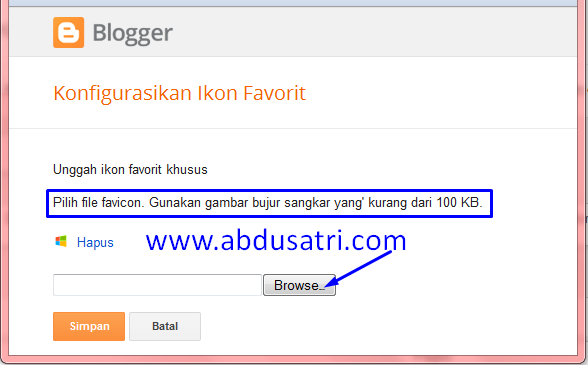 cara ganti icon blogspot