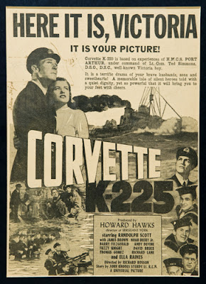 Corvette K-225 (released in 1943) - Starring Randolph Scott, Ella Raines and Barry Fitzgerald