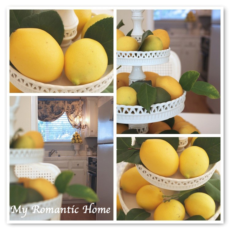 My Romantic Home Decorating With Lemons Show And Tell