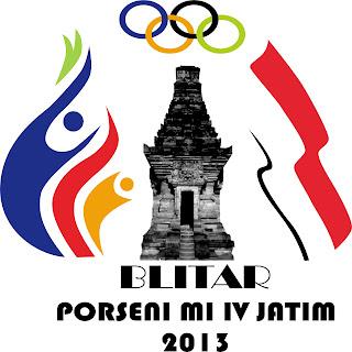 Logo Porseni 4 MI Jawa Timur di Blitar