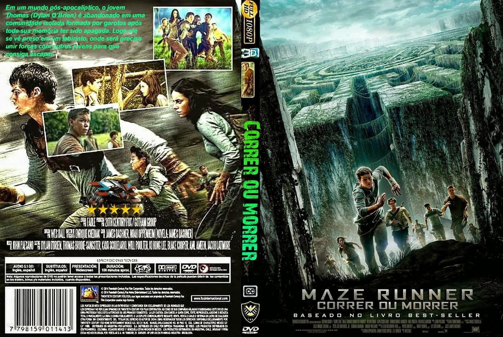 Maze runner correr ou morrer dvd capa