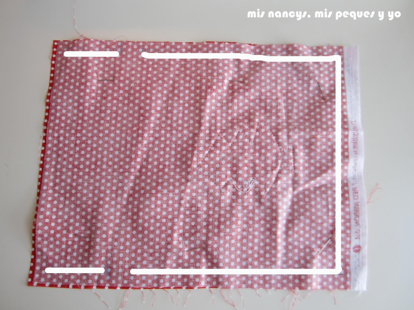 mis nancys, mis peques y yo, tutorial bolsitas de Navidad reversibles, coser en forma de U