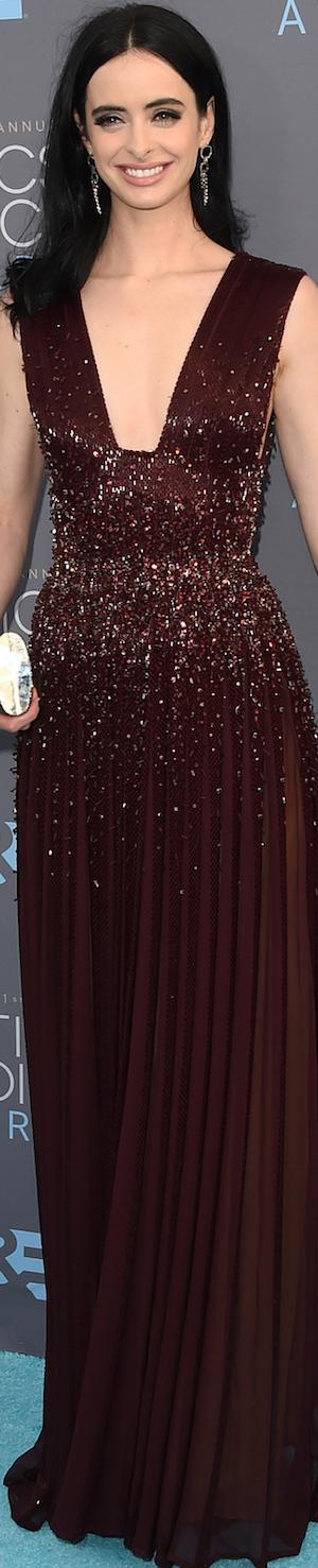 Krysten Ritter in Zuhair Murad 2016 Critcs' Choice Awards