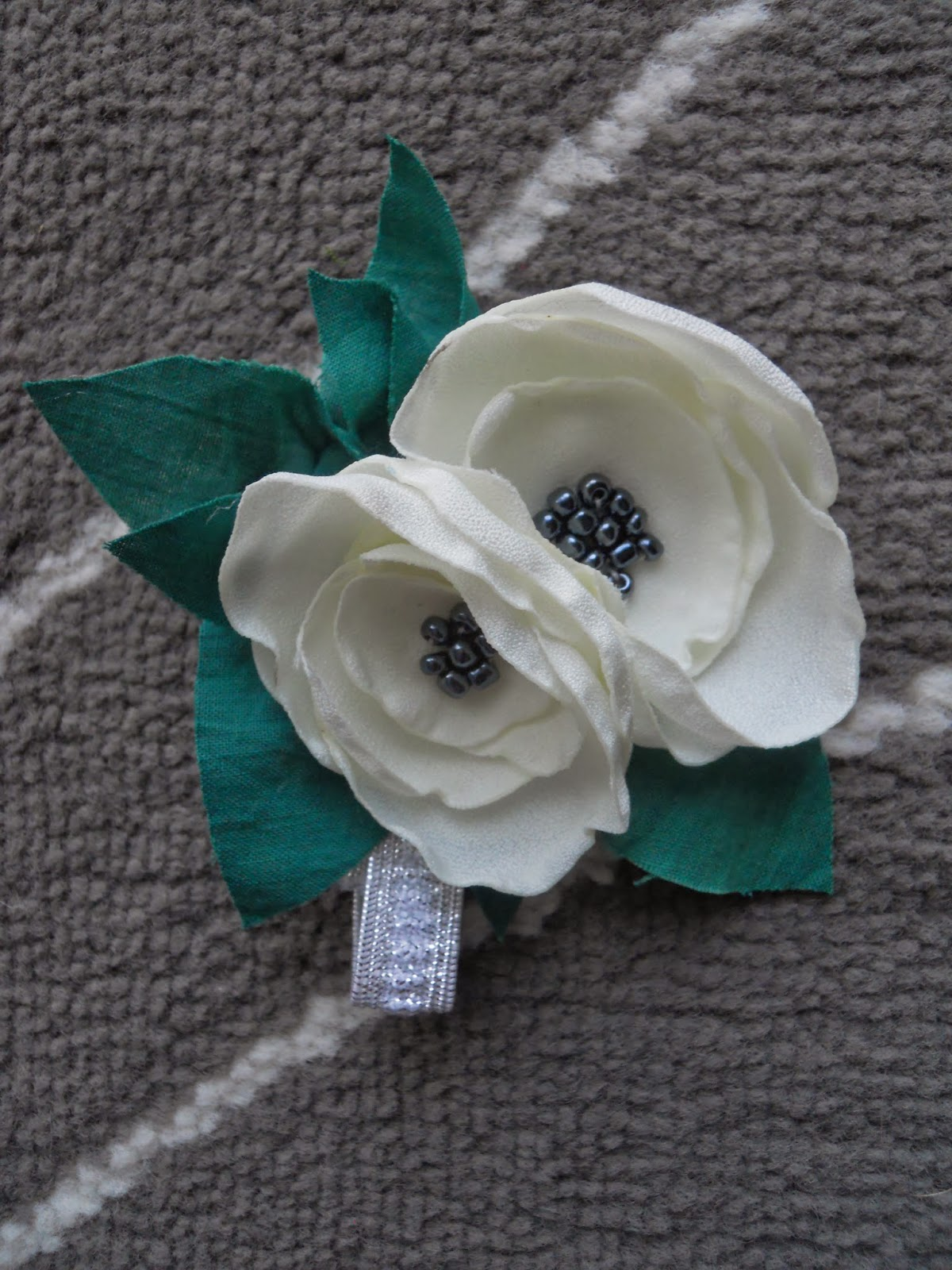 fabric flower wrist corsage