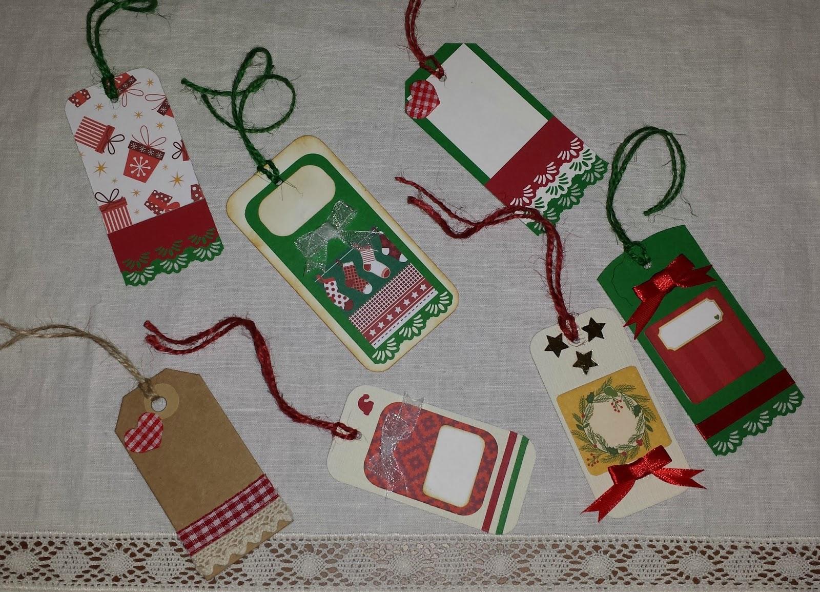 todas las cosas que prepar el ao pasado he preparado cositas nuevas mi pasin por el scrap estoy haciendo etiquetas para los regalos
