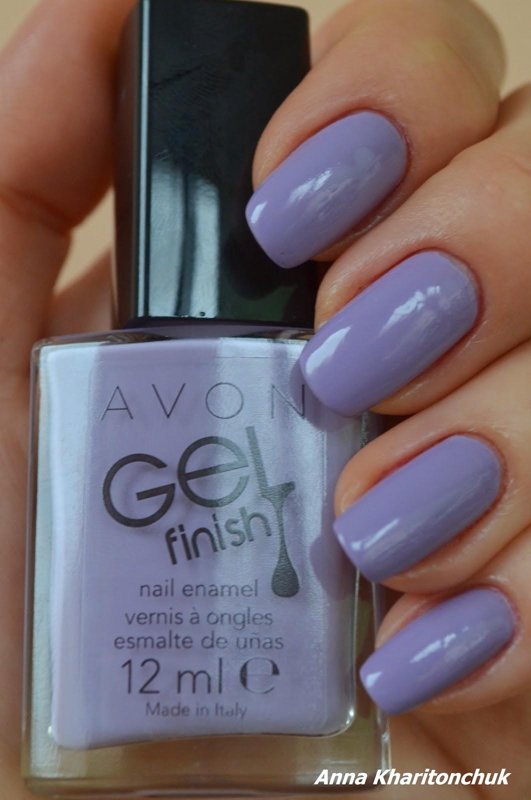 Avon Gel Finish Lavander Sky