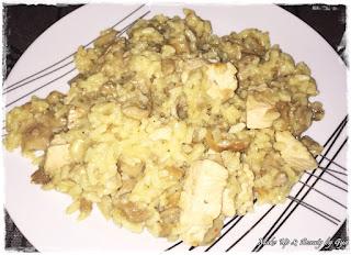 Arroz con setas y pollo - receta