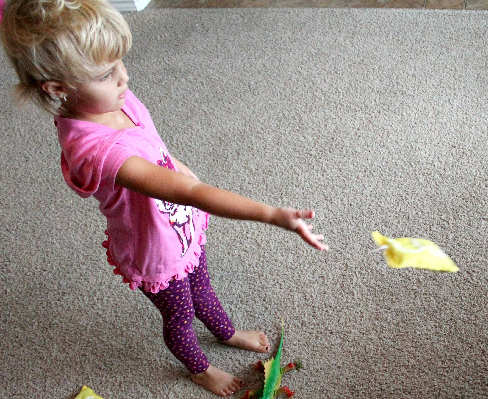 Preschool Math Activity Bean Bag Toss