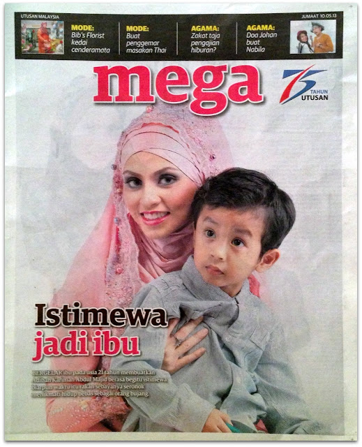 Adibah Karimah in Utusan Malaysia today in celebration of Mother's Day