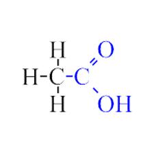 formula quimica acido acetico: