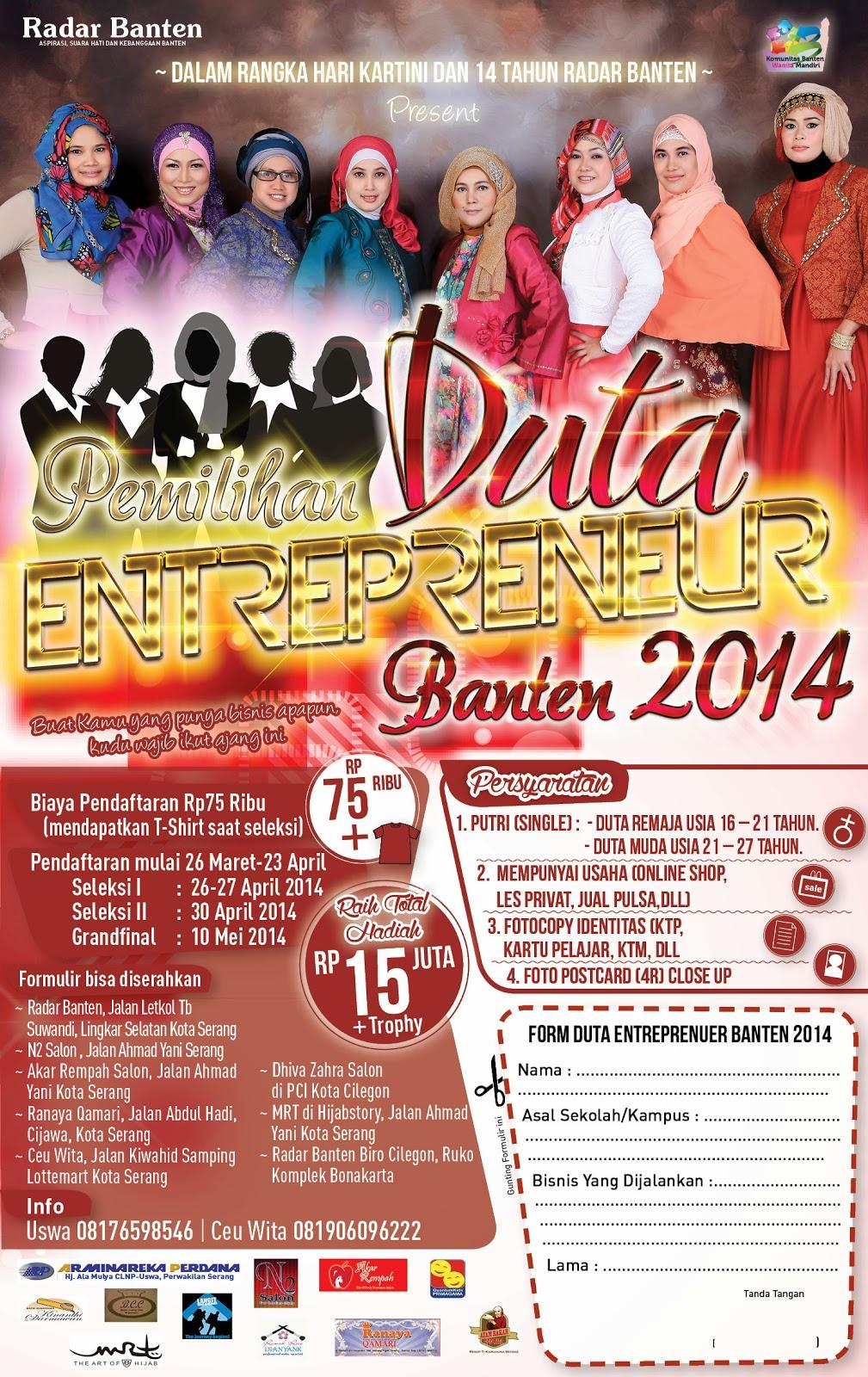 Kupon Pemilihan Duta Enterpreneur Banten 2014