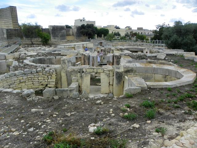 Perspectiva de los Templos de Tarxien