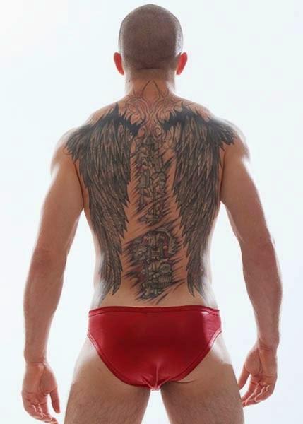 GBGB Wear Josh Bikini Underwear Red Back