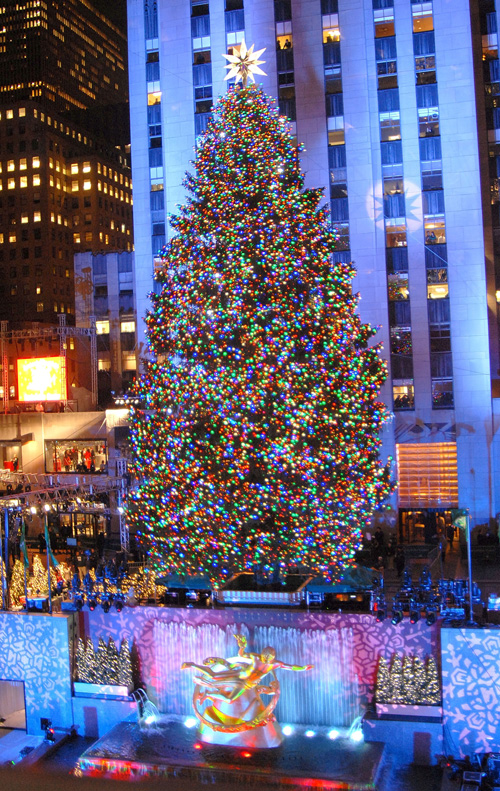 NY Breaking News: Rockefeller Center Christmas tree lights up 2011